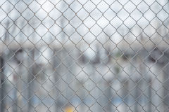 Metal wire fence or cage Royalty Free Stock Images