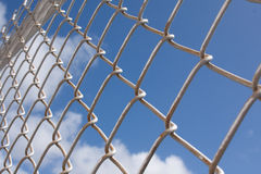 Metal wire fence Stock Image