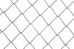 Metal wire fence isolated on white. Background stock photos