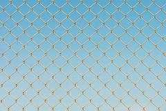 Metal wire fence protection chainlink background Stock Image