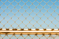 Metal wire fence protection chainlink background Stock Images