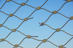 Metal wire fence protection chainlink background Royalty Free Stock Photography