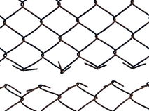 Metal wire fence protection isolated on white. For background Royalty Free Stock Image