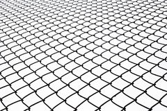 Metal wire fence protection on white for background. Royalty Free Stock Image