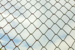 Metal wire mesh fence Royalty Free Stock Photos