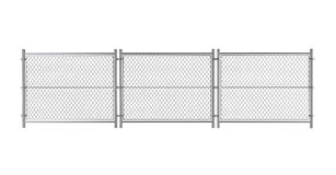 Metal Wired fence Royalty Free Stock Images