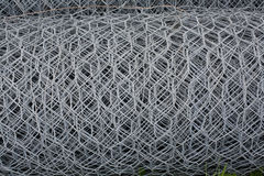 Metal wires net roll Royalty Free Stock Photos