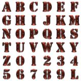 Metal and wood alphabet on white Stock Image
