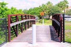 Metal & wood bridge, FL Stock Photography