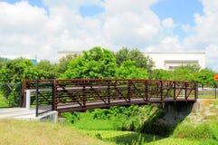 Metal & wood bridge, Florida Stock Photo