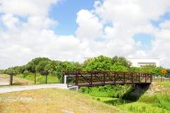 Metal & wood bridge, South Florida Royalty Free Stock Photo