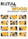 Metal and wood of business card Royalty Free Stock Photo