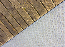 Metal and wood floor Stock Photo