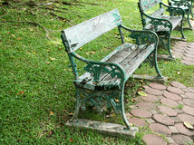 Metal and wood garden chair Stock Photography
