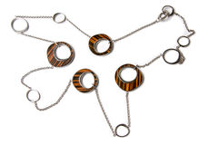 Metal and Wood Necklace. Stock Photography