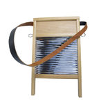 Metal and Wood Washboard Stock Photo
