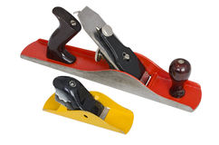 Metal Woodworking Planes. Isolated over white Stock Image