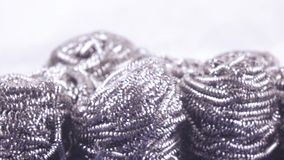 Metal wool from shavings stock video footage