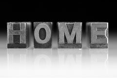 Metal word Home Royalty Free Stock Photography