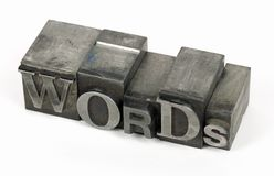 Metal Words Royalty Free Stock Photography