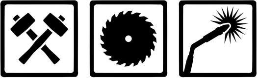 Metal worker welder icons. Vector Stock Photography