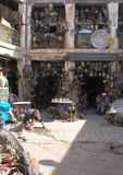 Metal Workers Souk in Marrakech Royalty Free Stock Images