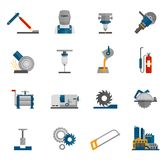 Metal-working Icon Flat Royalty Free Stock Images