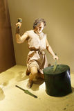 Metal working in prehistoric times Stock Photos