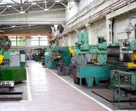 Metal working shop. Various metal working machines in works shop royalty free stock image