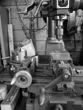 Metal workshop: drill and lathe Royalty Free Stock Photos