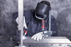 In metal workshop Stock Photography