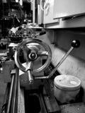 Metal workshop: lathe stock photo