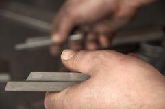 In metal workshop Royalty Free Stock Photo