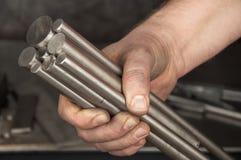 In metal workshop Stock Image
