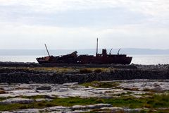 Metal Wreck. On the Island of Inishmaan, Ireland Royalty Free Stock Image