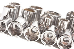 Metal wrench sockets close up Royalty Free Stock Photo