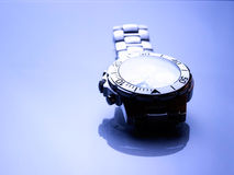 Metal wrist watch Royalty Free Stock Photos
