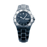 Metal wristwatch. On white background Stock Images