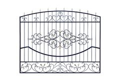 Metal  wrought fencing. Royalty Free Stock Photography