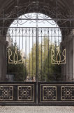 Metal wrought-iron gates Royalty Free Stock Photo