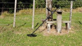Metal wykrywa na gospodarstwie rolnym zdjęcie royalty free