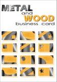 Metal y madera de la tarjeta de visita Libre Illustration