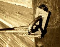 Metal y madera de la vendimia Foto de archivo