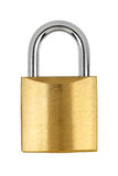 Metal yellow padlock Royalty Free Stock Images