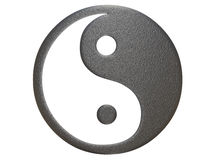 Metal ying yang sign Royalty Free Stock Image