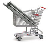 Metal in your shopping cart Royalty Free Stock Photography