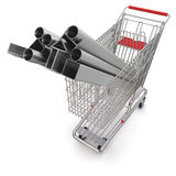 Metal in your shopping cart Stock Photography