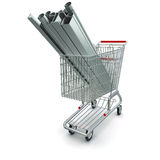 Metal in your shopping cart Royalty Free Stock Photos