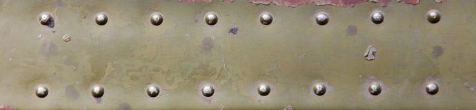 Metal ytbehandlar med rivets Royaltyfri Bild