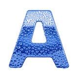 Metal Zeichen u. wässern Sie Tropfen - bezeichnen Sie A mit Buchstaben Lizenzfreies Stockfoto